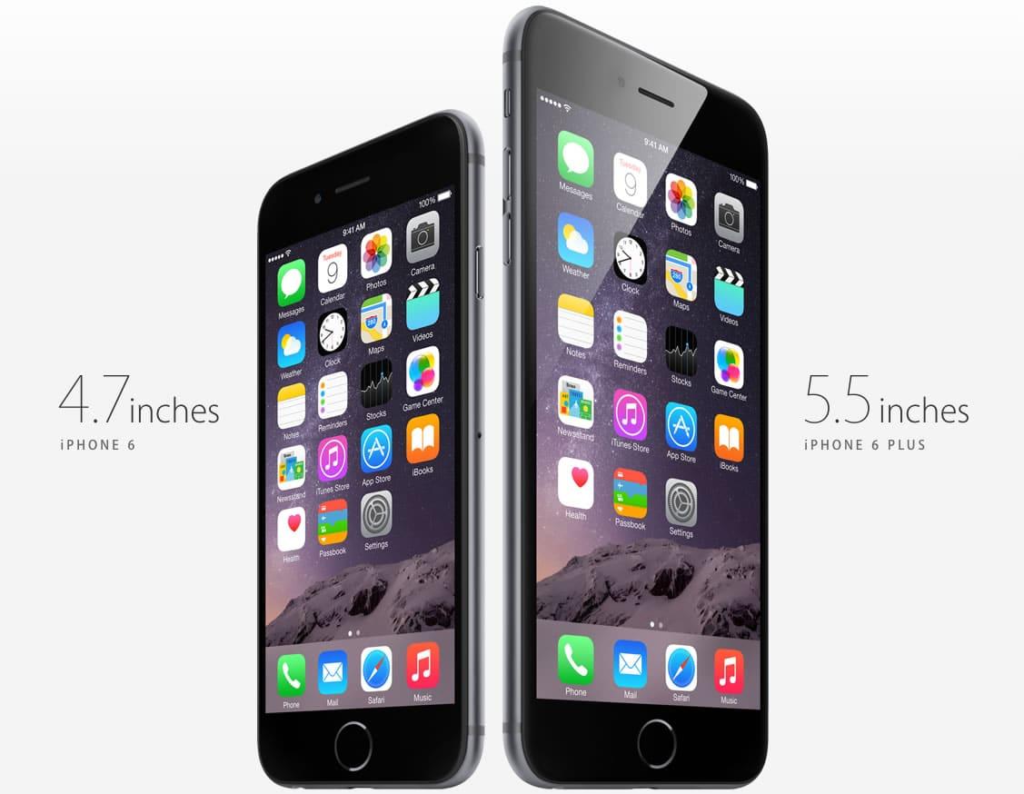 iPhone 6 y iPhone 6 Plus.