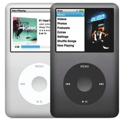 La última versión del iPod Clásico.