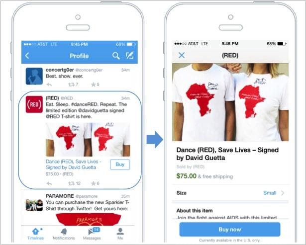 El botón Buy en los tweets, permitirá comprar directamente desde Twitter.