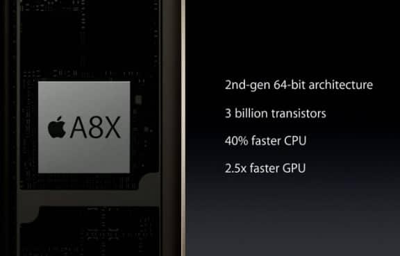 Especificaciones del nuevo procesador A8X.