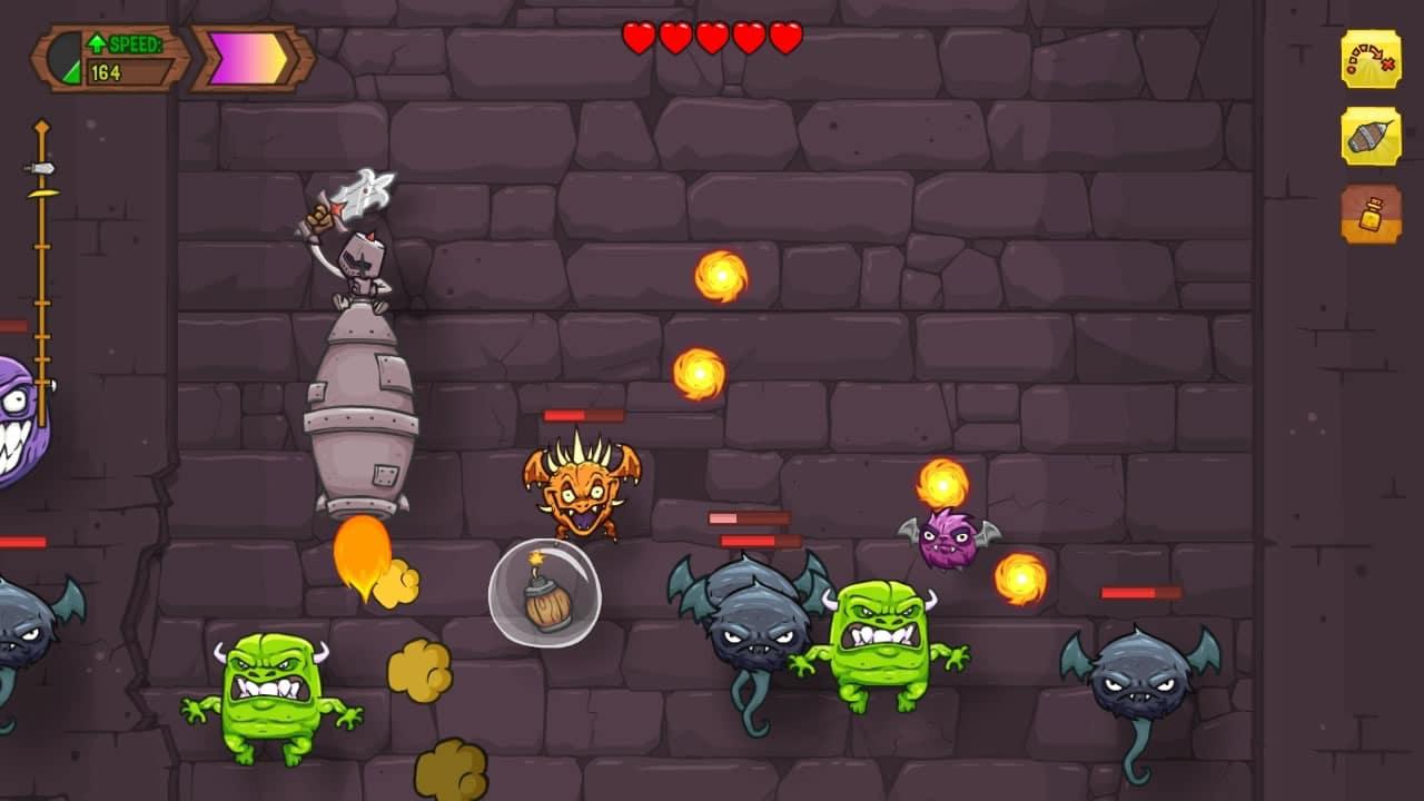 Así luce Knightmare Tower para iOS (iPad).