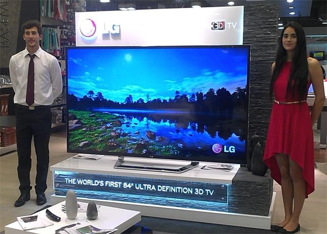 LG introdujo primero al mercado chileno un televisor Ultra HD 4K 3D de 84 pulgadas. Caro y muy grande para varios.