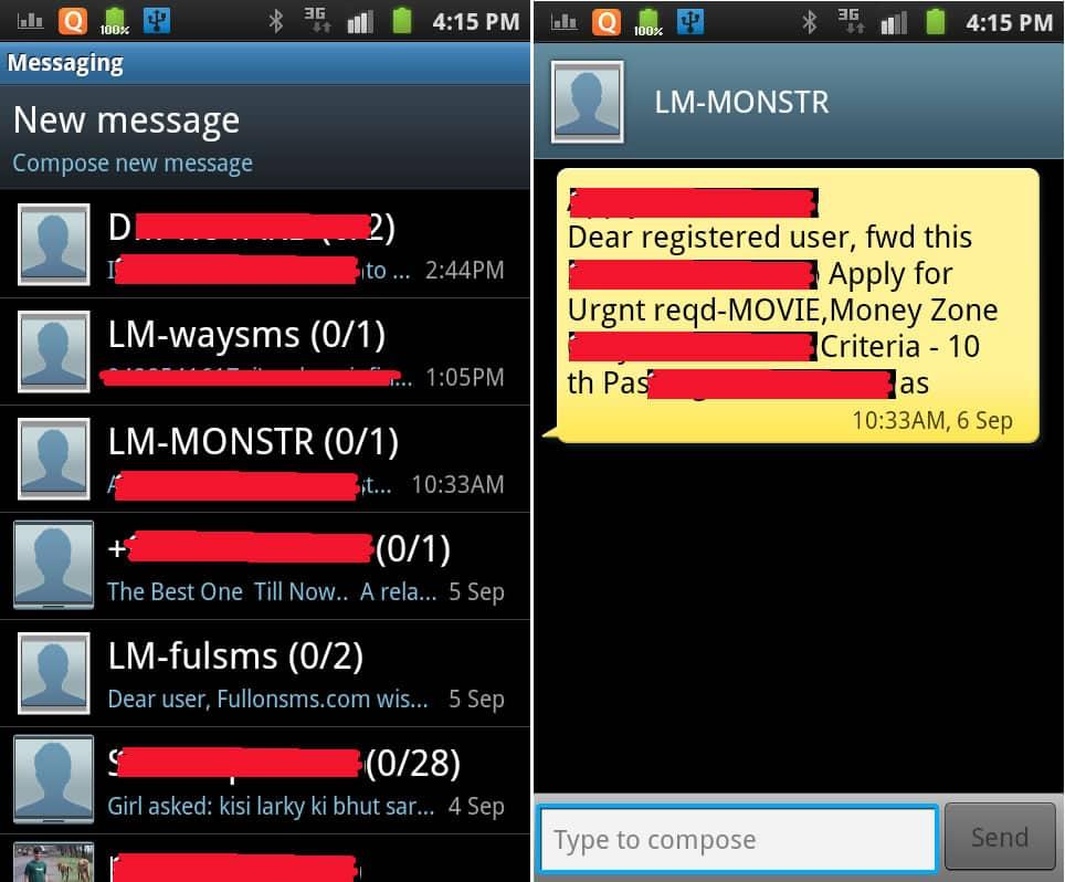 En los últimos años los SMS a servicios premium, son el malware preferido de los cibercriminales en Android.