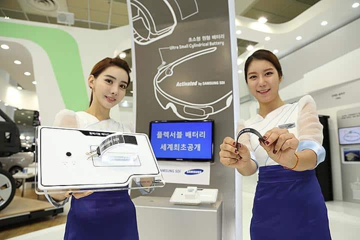 Samsung aprovechó la Inter Battery 2014 para mostrar el prototipo de su futura batería flexible.