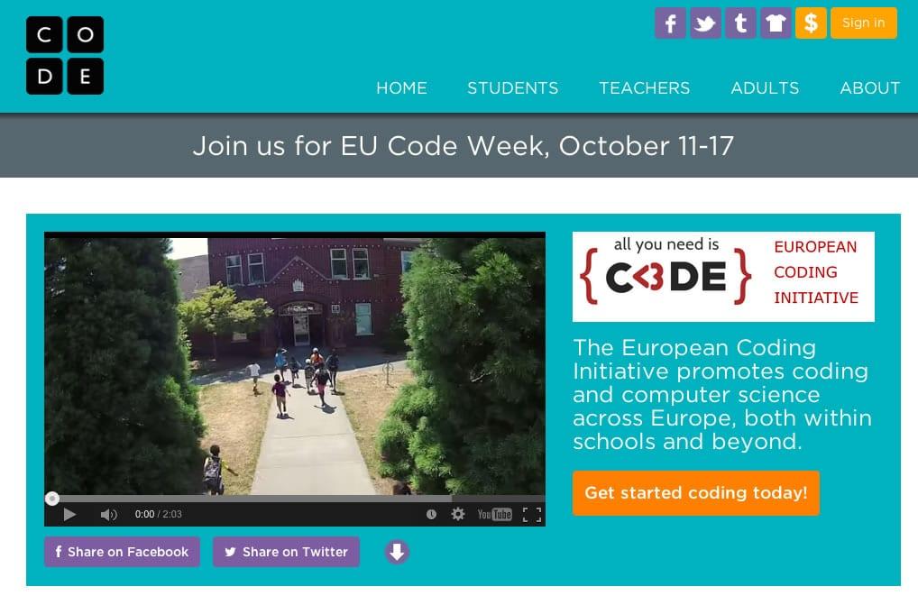 Programar en EU CODE: La Unión Europea tiene el objetivo de que la programación sea un conocimiento común entre sus habitantes.