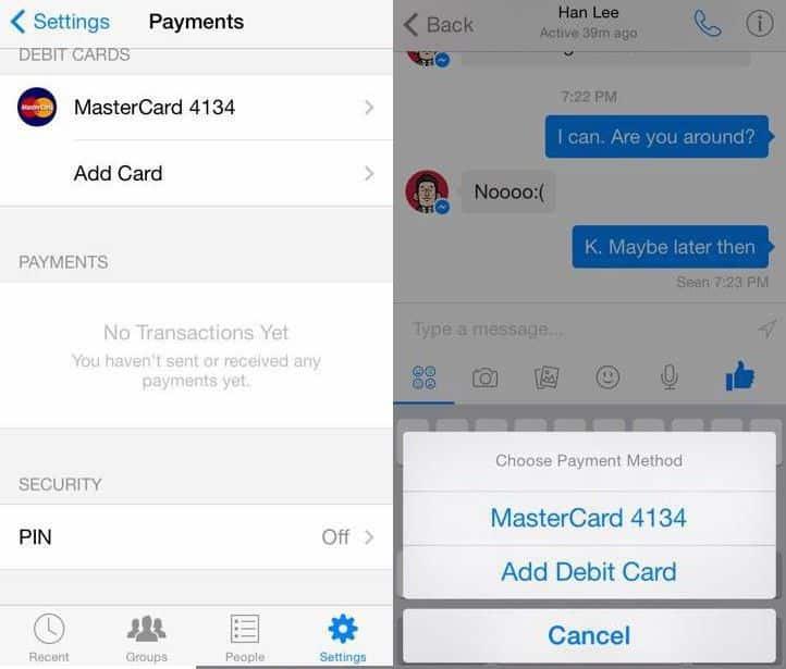 Un hacker encontró oculto en la encriptación de Facebook Messenger un sistema de pago.