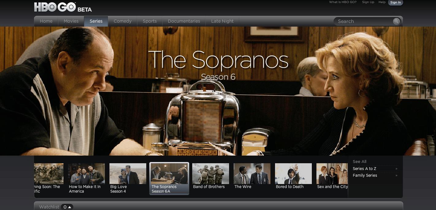 HBO prepara una plataforma online, donde incluiría todo su contenido actual y antiguo, como The Sopranos.
