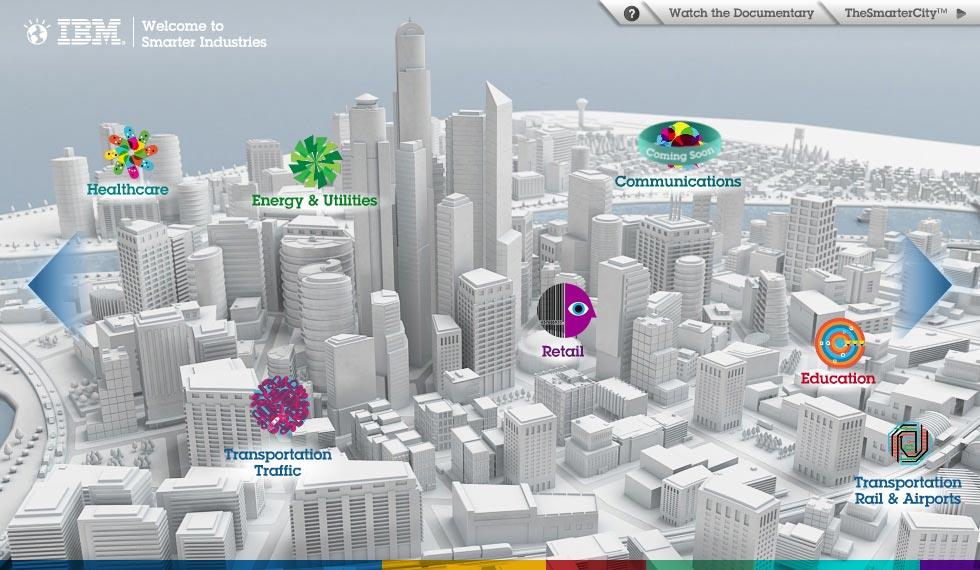 IBM está trabajando en el proyecto de ciudades inteligentes, a través del análisis de datos.