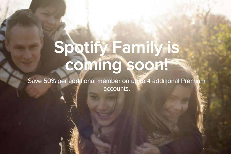 Spotify debería confirmar en los próximos meses el lanzamiento de sus planes familiares.