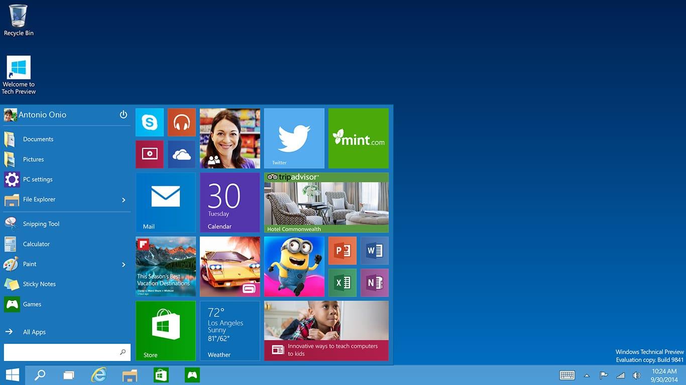 Los usuarios ya podrán testear una versión preliminar de Windows 10, cortesía de Microsoft.