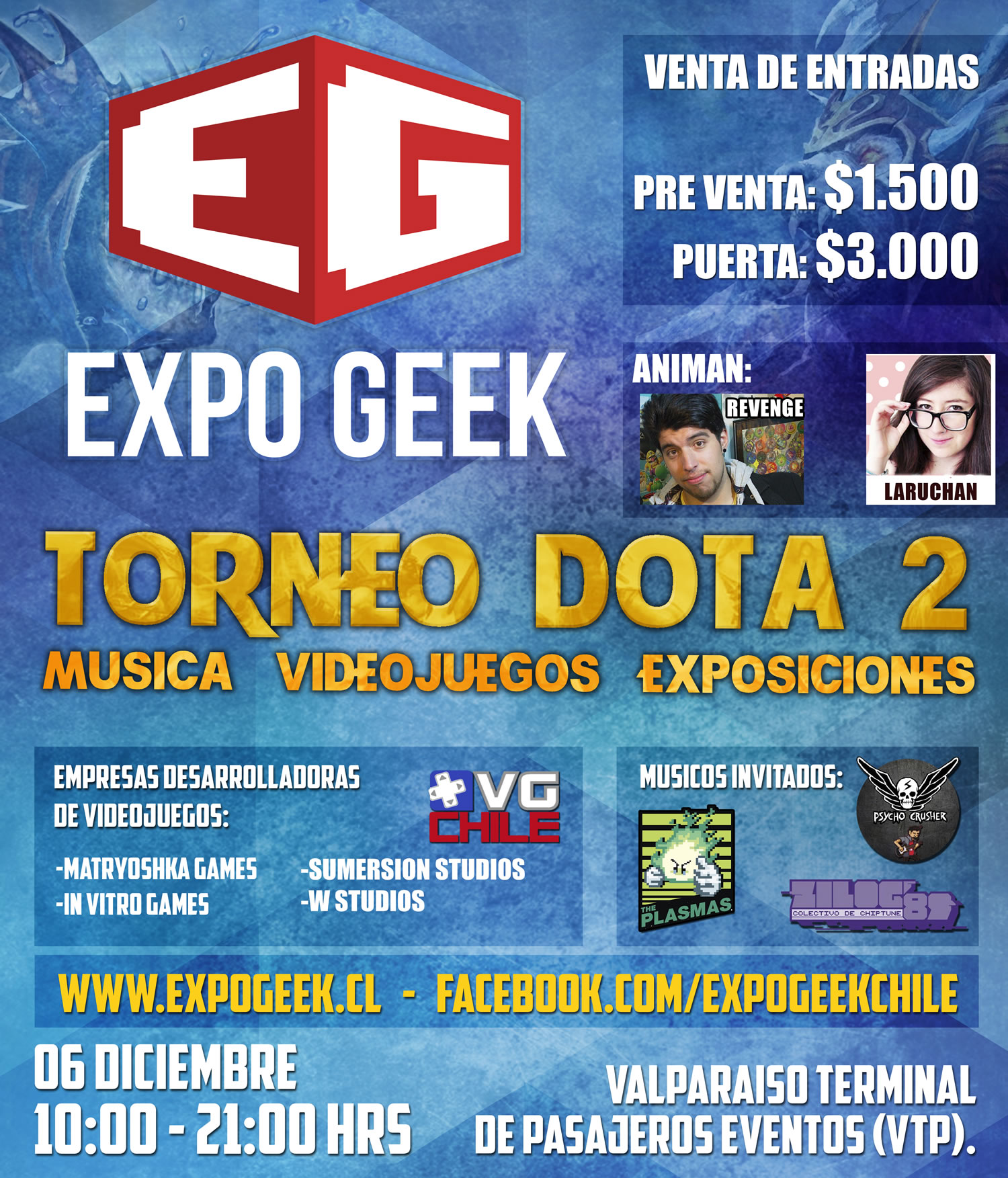 Afiche Expo Geek 2014.