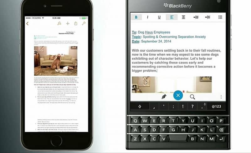 BlackBerry quiere quitarte tu iPhone para seducirte con una Passport.