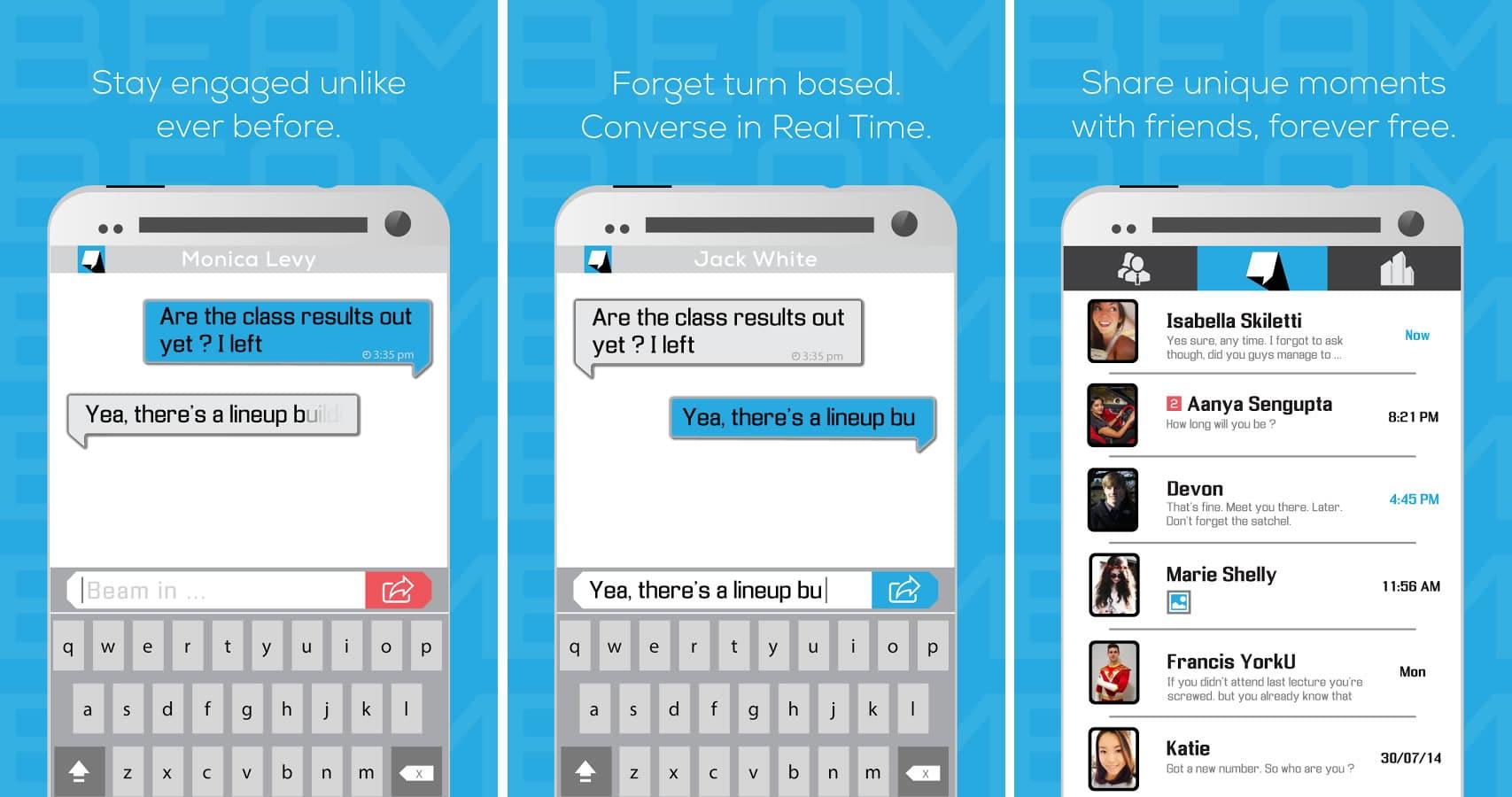 Beam Messenger está actualmente disponible para Android en Google Play.