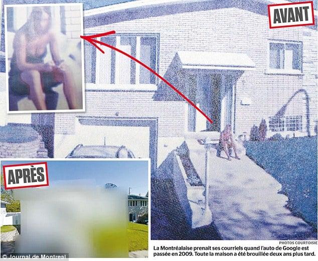 La imagen de Street View donde se observa el escote de María Pía.