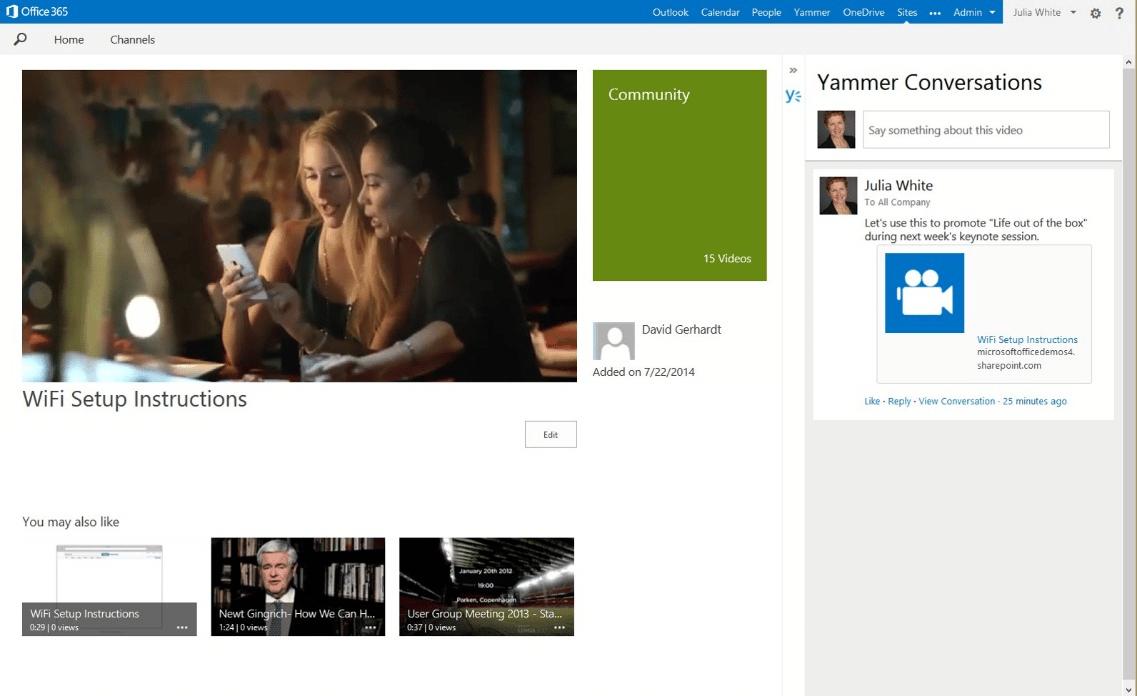 Office 365 Video estará en un primer momento sólo para clientes del servicio, luego saldrá para el resto del público.