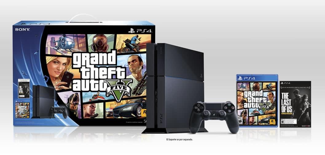 Bundle de PlayStation 4 con GTA V.