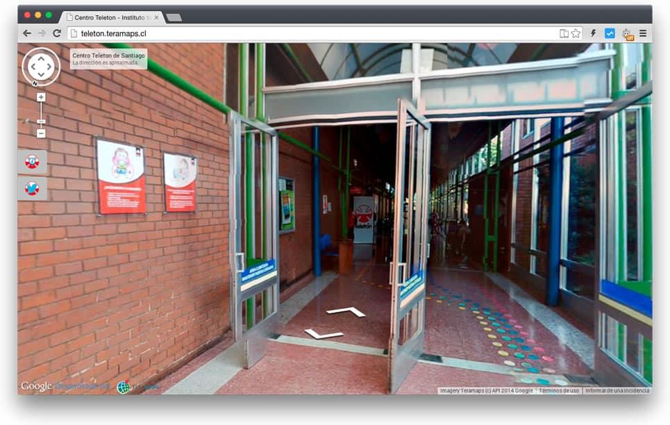 Recorrido virtual por el interior del Instituto Teletón de Santiago.
