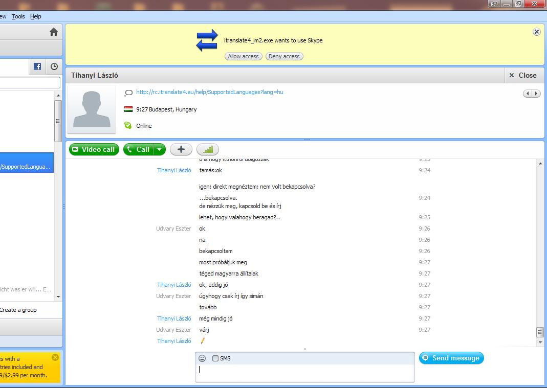 Microsoft con la intención de mejorar sus funciones online incorporó Skype Chat a Office.