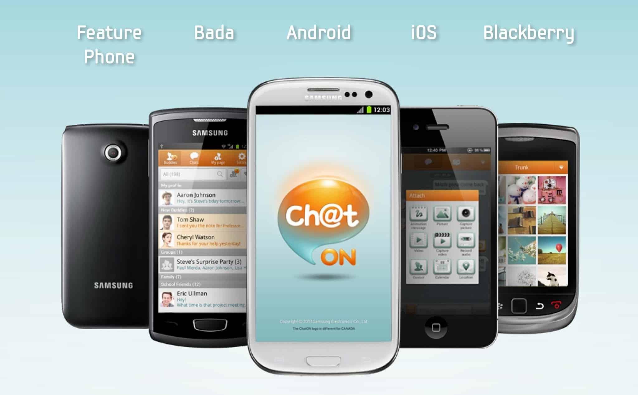Samsung tomó la decisión de cerrar ChatOn por la poca participación de usuarios que consiguió la aplicación.