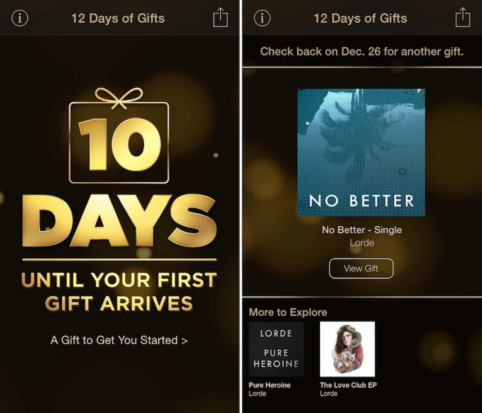 Apple no ha indicado ningún porqué sobre  la no realización de los '12 Days of Gifts'