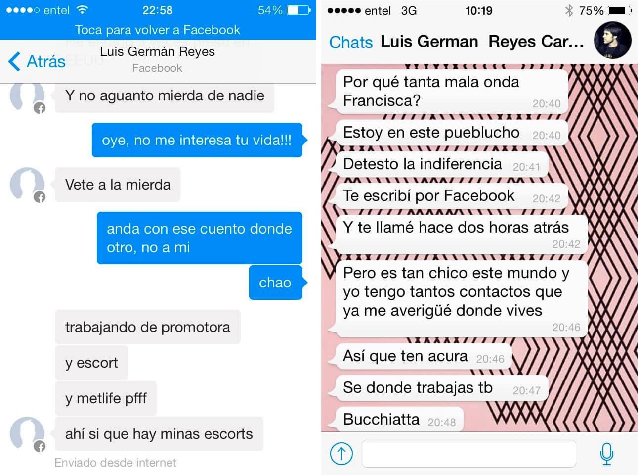 Misógino online: Estas son algunas de las amenazas e insultos de Luis Reyes a sus víctimas.