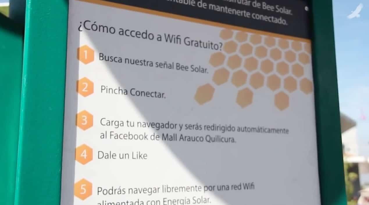 Instrucciones para el acceso Wi-Fi de Bee Solar.