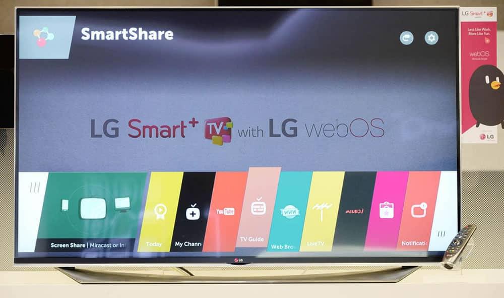 webOS 2.0 en un televisor LG.