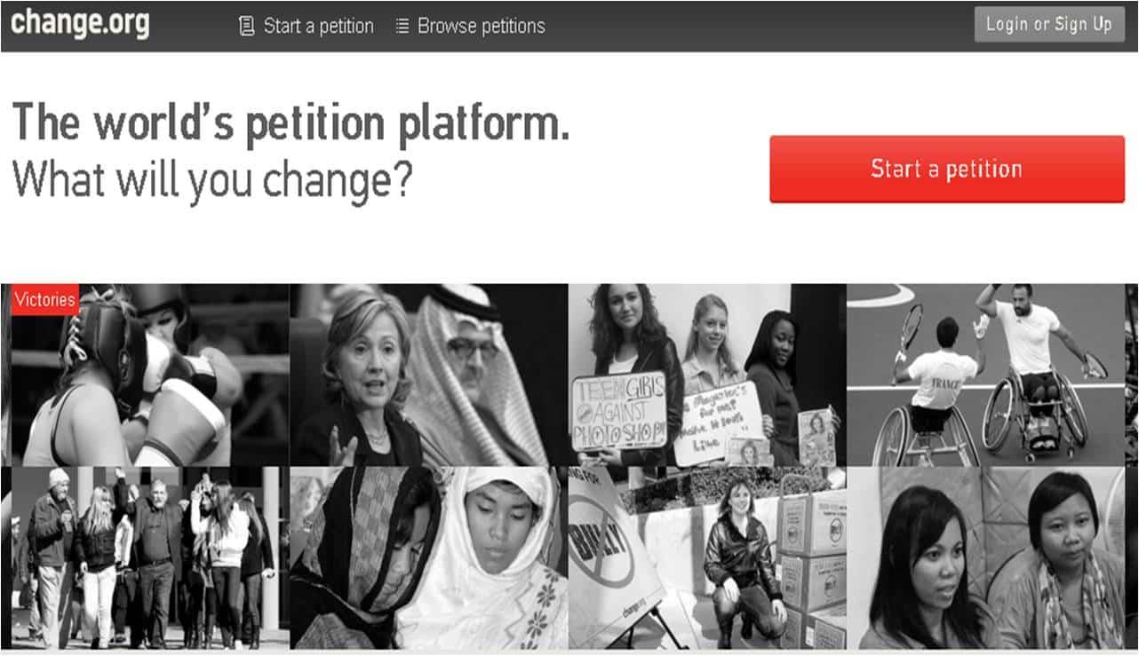 Change.org consiguió 25 millones de dólares para el futuro y el funcionamiento de la plataforma