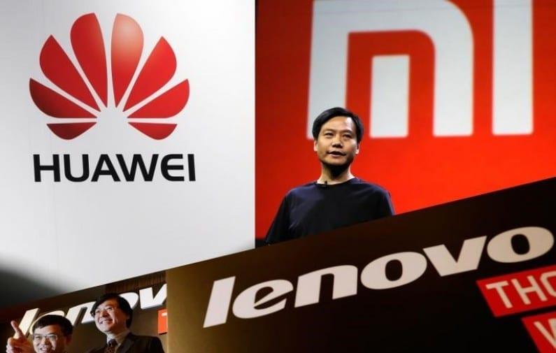 Huawei, Xiaomi y Lenovo producen 60 millones de smartphones, liderando a las empresas de China.