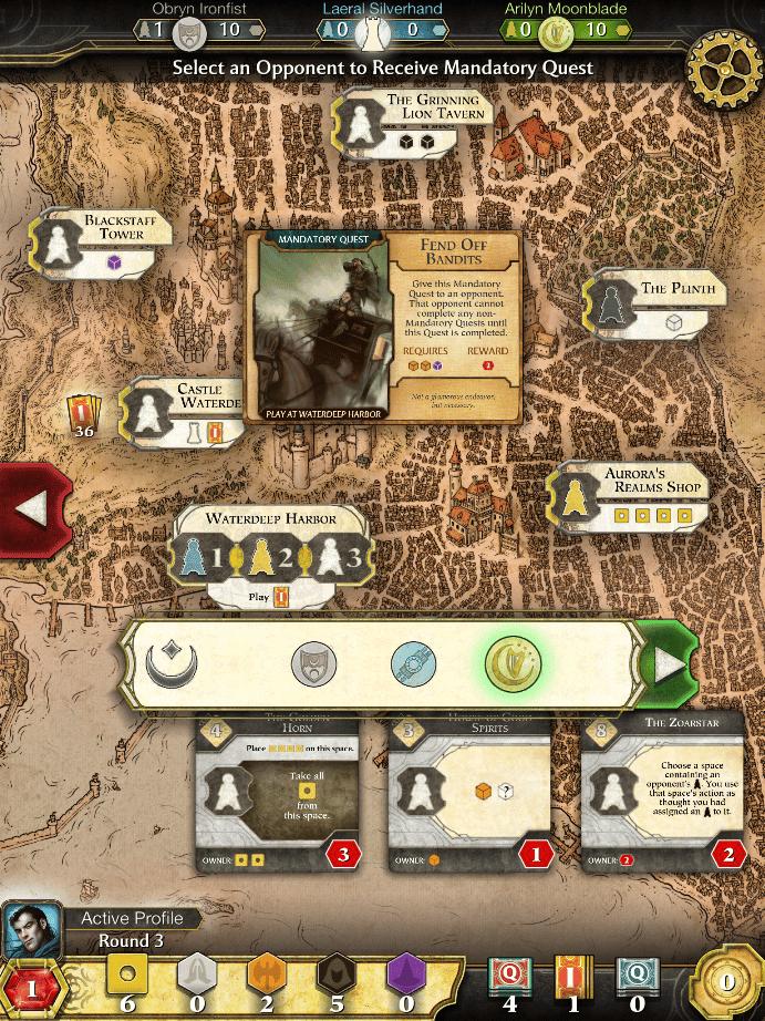Lords of Waterdeep para iPad.