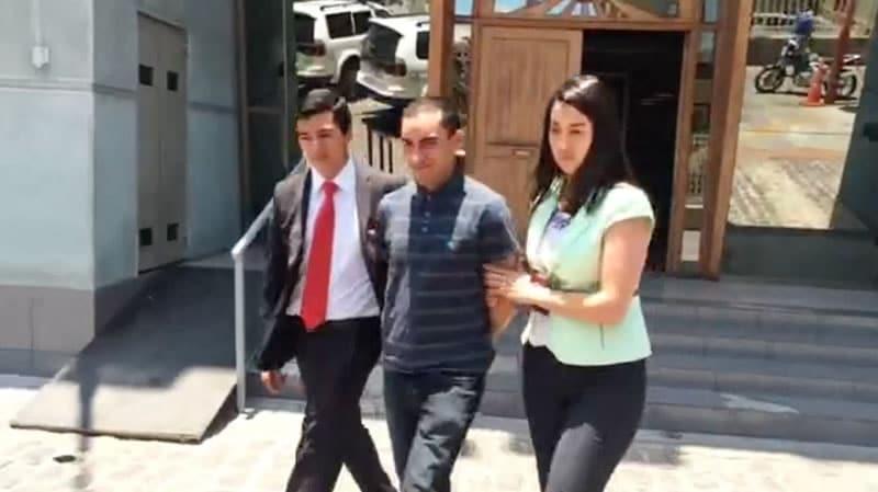 Pablo Navarrete Guerrero, después de su detención en Antofagasta.