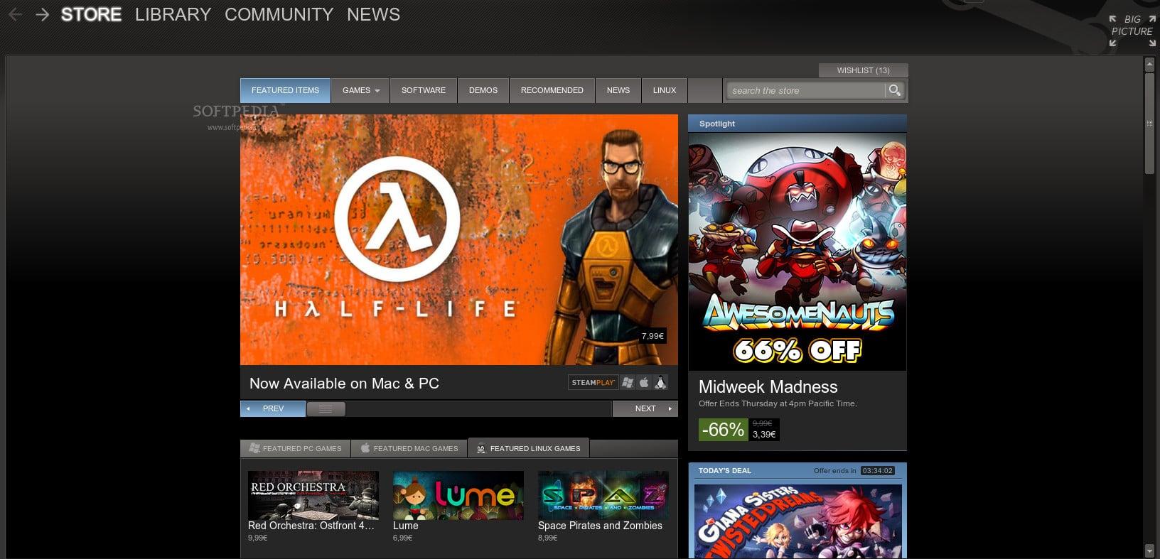Steam demostró el avance del forma digital en videojuegos y logró 8,5 millones usuarios jugando.