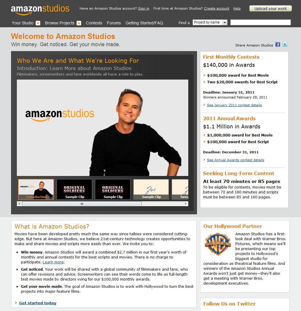 Amazon producirá películas para el cine y para su plataforma streaming.