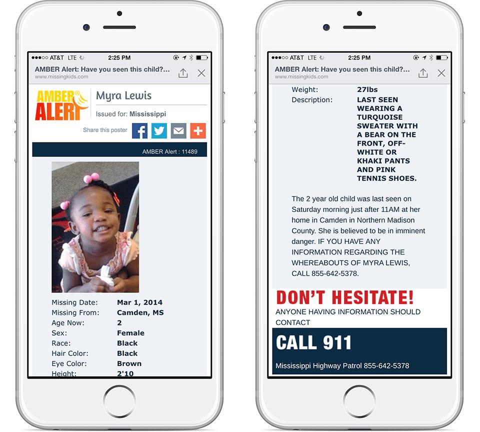 Facebook ayudará en la búsqueda de niños perdidos mostrando la alerta AMBER