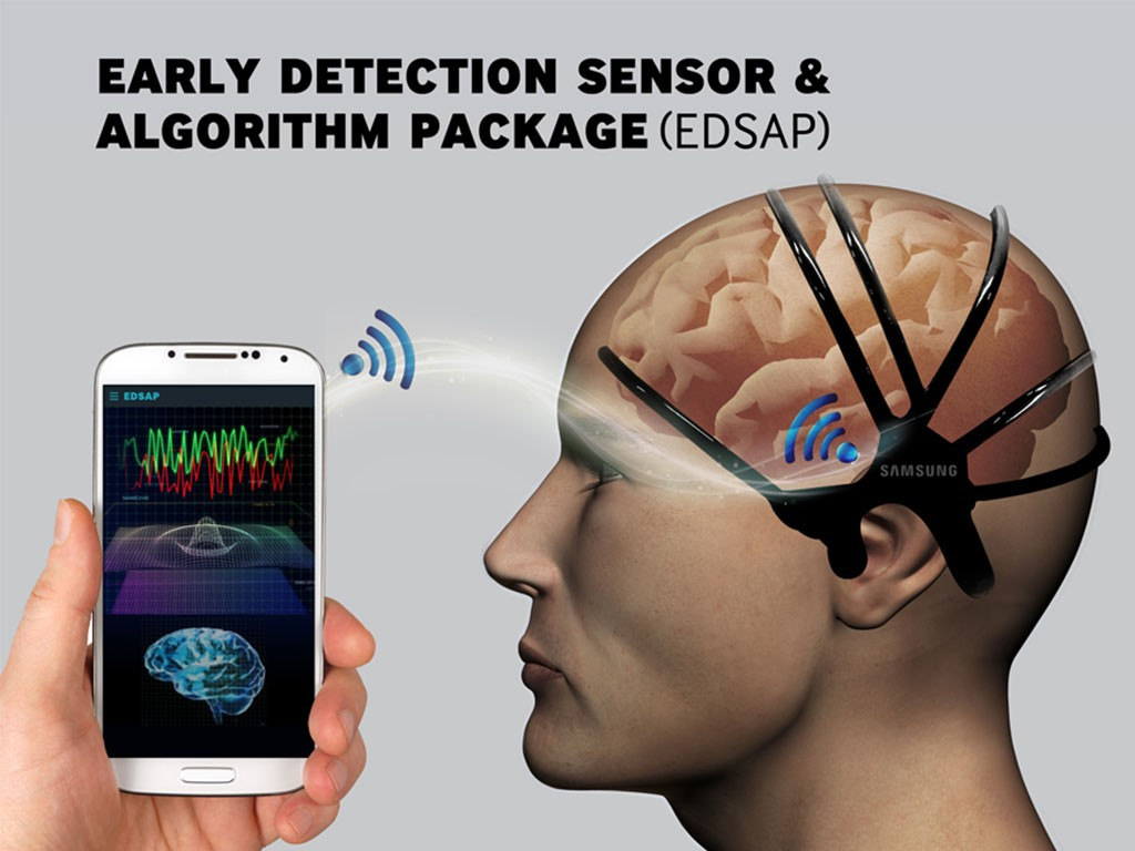 Samsung desarrolló un prototipo para detectar derrames cerebrales.