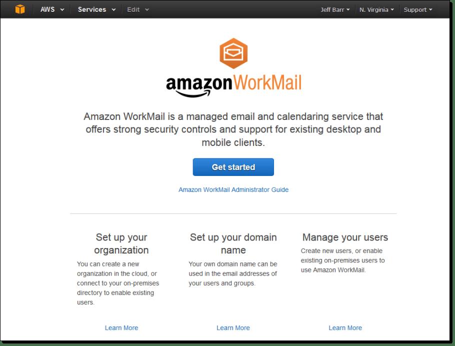 Amazon quiere competir contra Yahoo!, Microsoft y Google con la creación de WorkMail.