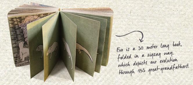 Evo es un libro de ilustraciones sobre la evolución humana.