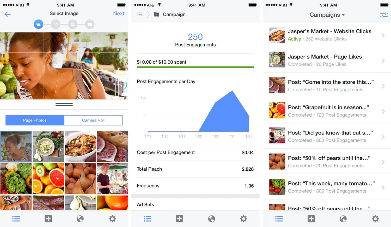 Anunciantes activos: Nueva aplicación Ads Manager de Facebook.