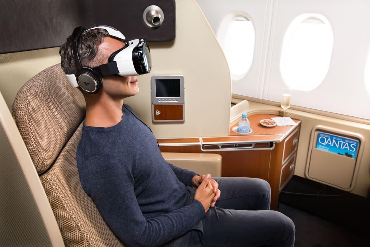 En cabinas y lounges de espera se ofrecerán los Gear VR a pasajeros Qantas.