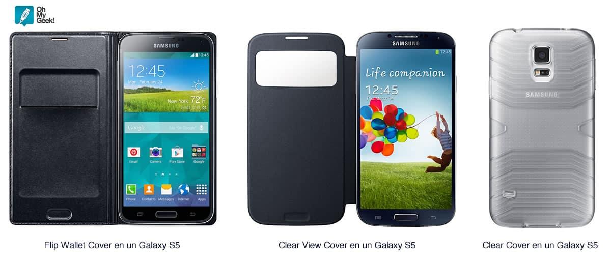Las tres carcasas (fundas) que tendrá el Galaxy S6 y Galaxy S6 Edge.