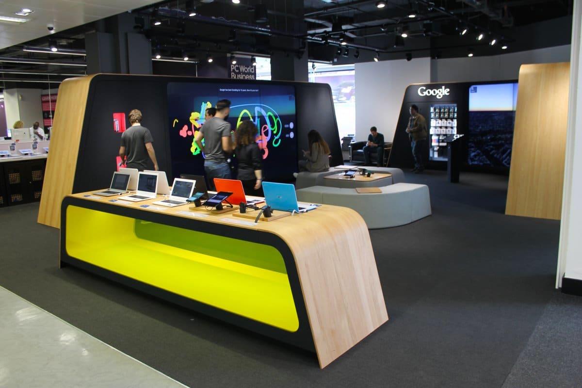 Google Shop London es la primera tienda física de la empresa.