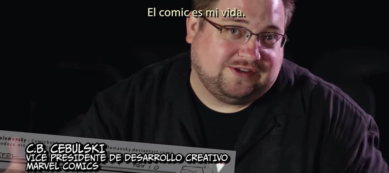C.B. Cebulski de Marvel Comics, es parte de los testimonios en 'La Ruta del Comiquero'.