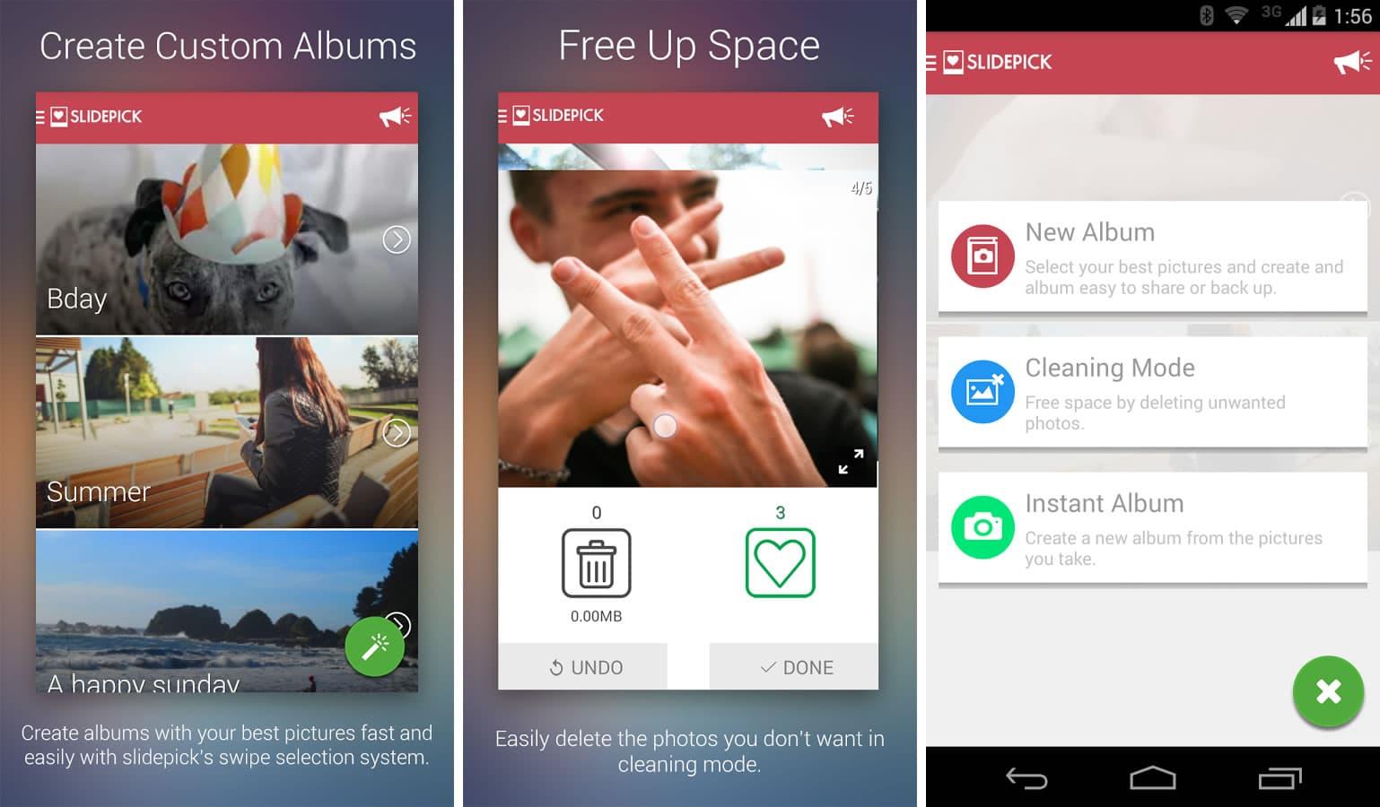 SlidePick está disponible para equipos con Android 4.0 o superior.