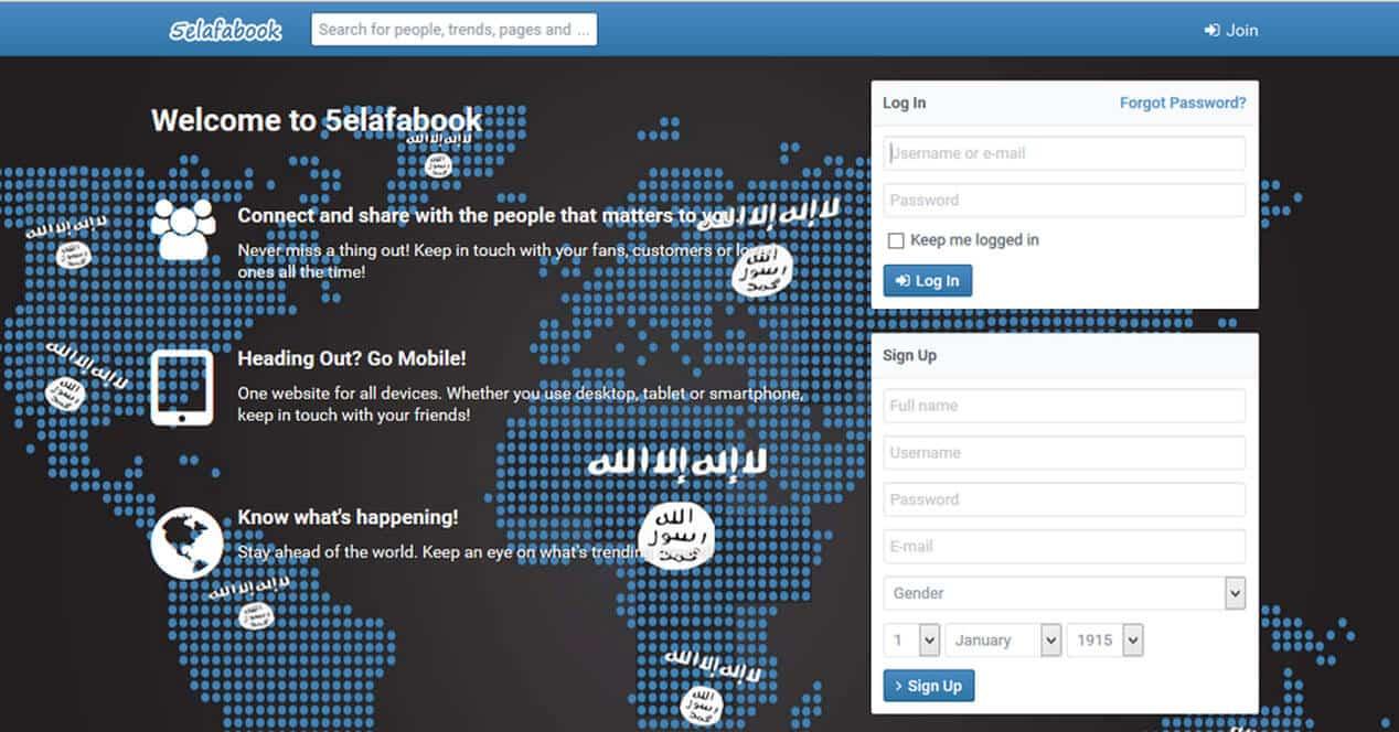 Khilafa Book es una red social creada para personas adeptas al extremismo islámico.