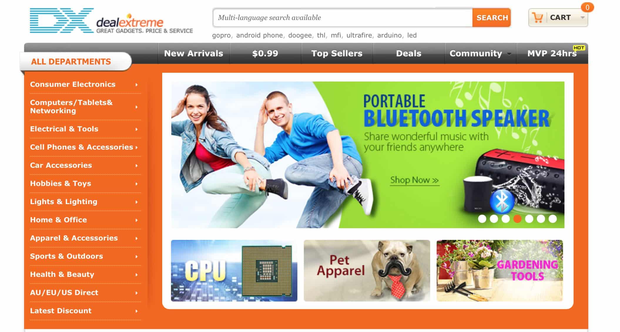 DealExtreme es una de las Webs favoritas para electrónica desde China.
