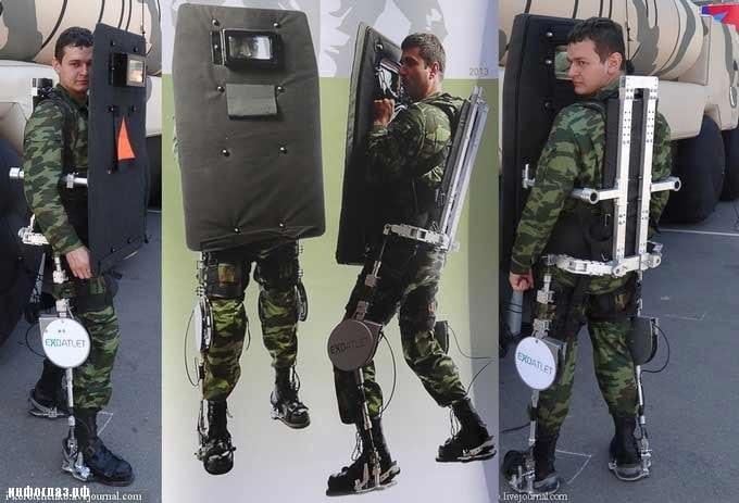 Exoesqueleto: Imagen referencial de Exoatlet para el Ministerio de Defensa en Rusia (2014).
