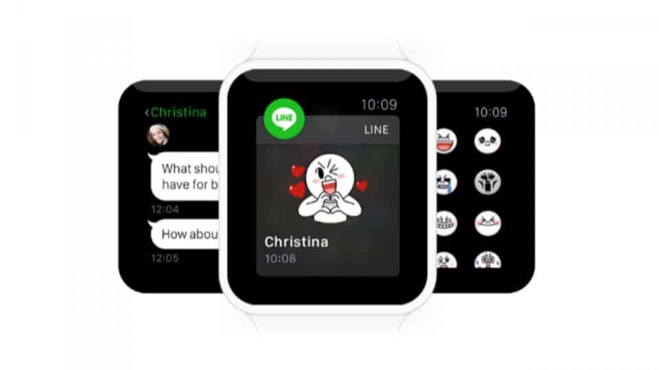 Line estará disponible en Apple Watch, pero no se podrán enviar mensajes.