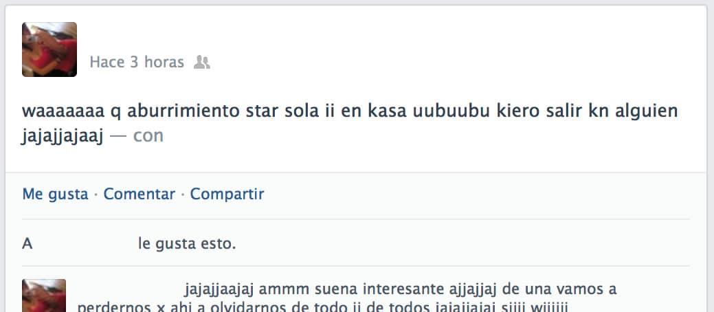 A Facebook no le importa si escribes así o tengas mala ortografía.