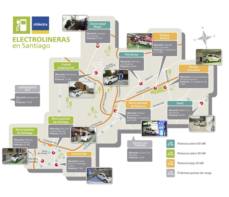 Mapa de las Electrolineras.