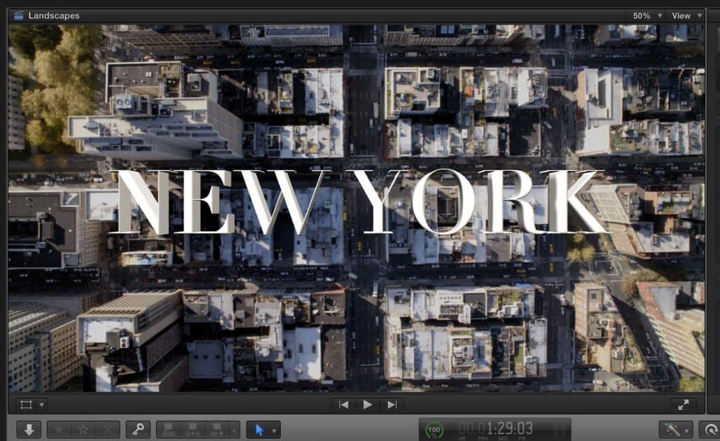 La nueva versión del Final Cut Pro X incluye la fácil realización de títulos en 3D.